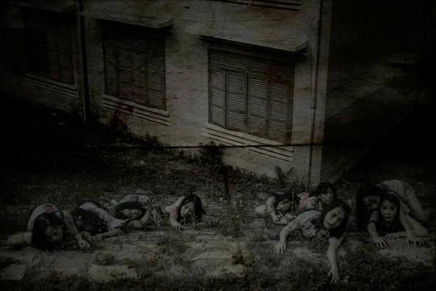 Khung cảnh khiến người xem liên tưởng đến các bộ phim kinh dị.