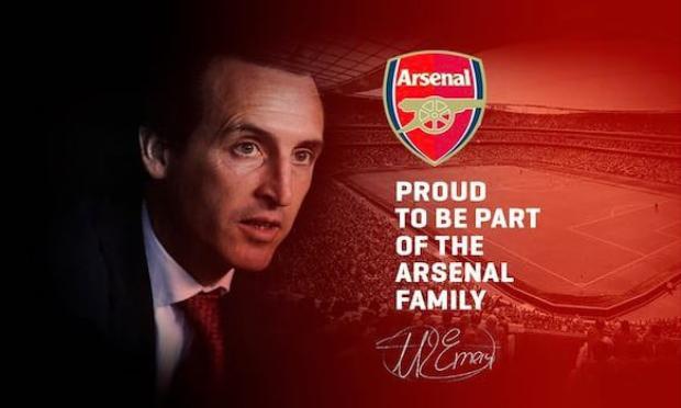 Emery chính thức tiếp quản Arsenal.