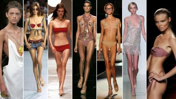 """Việc có 1 thân hình """"da bọc xương"""" đồng nghĩa với việc các người mẫu được sải bước thường xuyên trân sàn catwalk."""