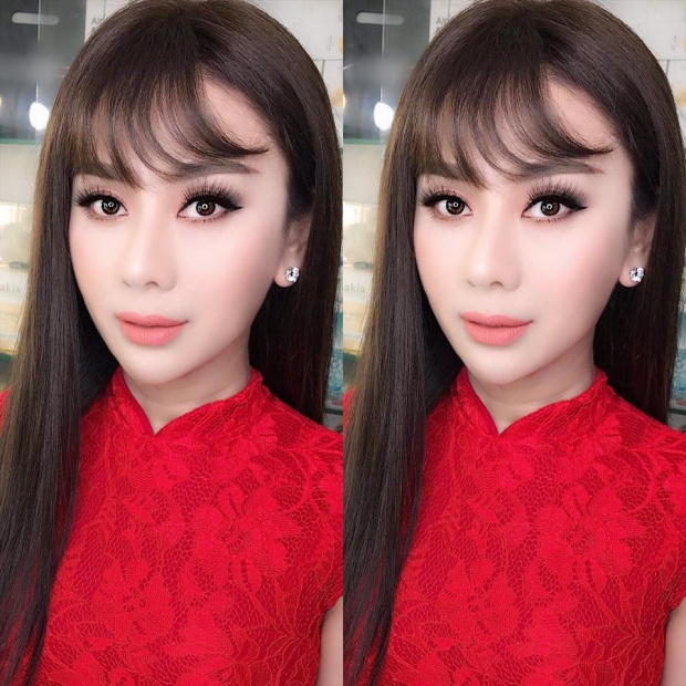 """Lâm Khánh Chi trong hình thật xinh đẹp, chỉ có điều đây hoàn toàn không phải nhan sắc của """"công chúa"""" ngoài đời."""