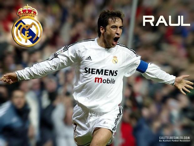 Raul trở thành ngọn cờ đầu dẫn dắt Real thành công.