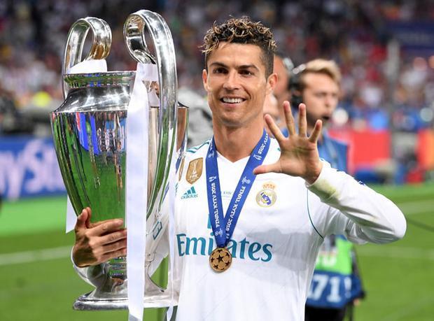 Ronaldo đã có 5 chức vô địch Champions League.