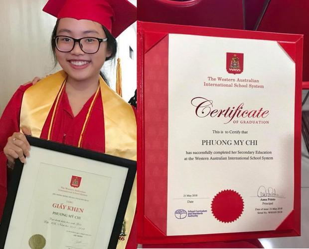 Phương Mỹ Chi tốt nghiệp cấp 2 loại Giỏi.
