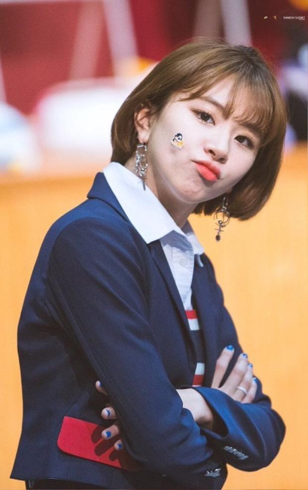 Chaeyoung đã từ lâu nổi tiếng với hình tượng một cô nàng nhỏ bé đáng yêu của Twice.