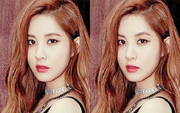 Dễ nhận thấy, lông mày hình cung làm gương mặt Seohyun mềm mại hơn. Ngược lại, lông mày kẻ ngang khiến cô trông cá tính.