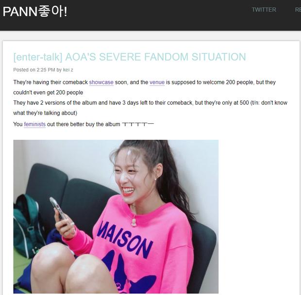 Thông tin AOA đang gặp khủng hoảng tràn lan trên các diễn đàn Kpop.