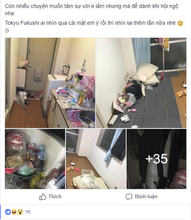 ChịYuki Chan choáng váng về việc làm bùng tiền của cô du học sinh đồng hương, lại còn bonus thêm cả đống rác ngập nhà. Ảnh chụp màn hình.
