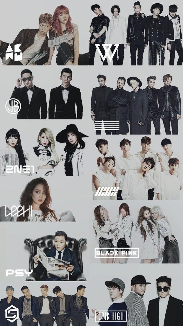 Danh sách nghệ sĩ, diễn viên gia nhập YG ngày càng tăng dần theo thời gian.