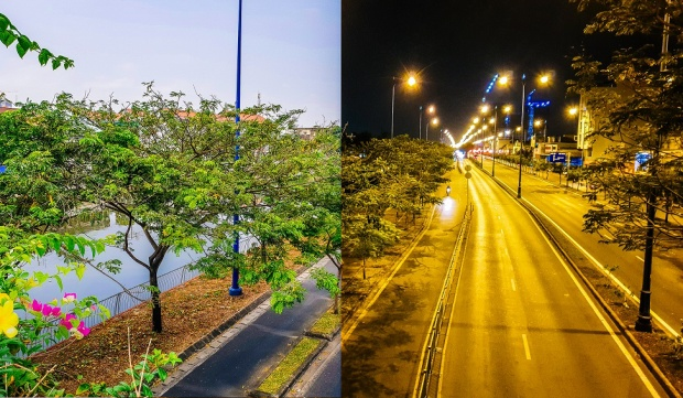 """Một góc chụp hội tụ hai khung cảnh ngày đêm đối lập tại khu bến Bình Đông, Tp.HCM, giúp tái hiện trọn vẹn những nét đẹp tuy bình dị nhưng đầy mới lạ, dường như chất chứa một câu chuyện hay nỗi niềm tâm tư nào đó của tác giả. Với khẩu độ biến thiên f/1.5 - f/2.4, Galaxy S9 thừa sức """"cân"""" những bức ảnh ban ngày nắng gắt hay ban đêm thiếu sáng một cách chuyên nghiệp."""