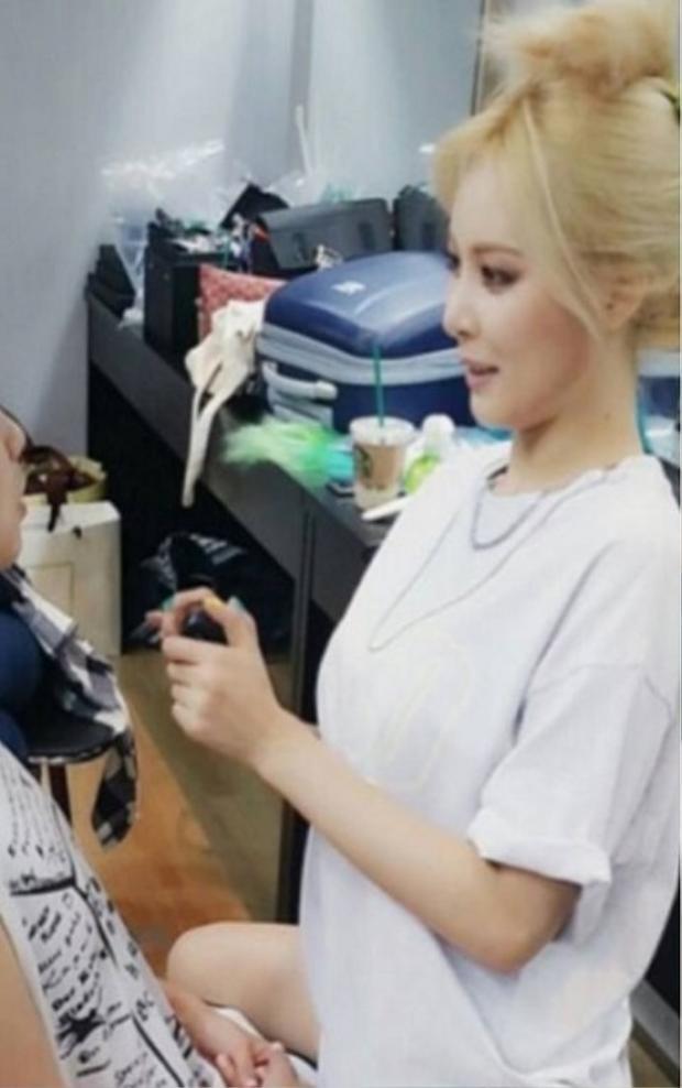 Gương mặt được tạo khố kỹ lưỡng của Hyuna