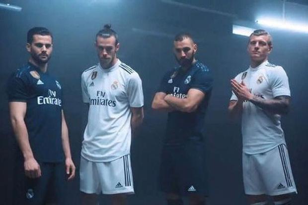 Các ngôi sao Real trong video quảng cáo áo đấu mới.