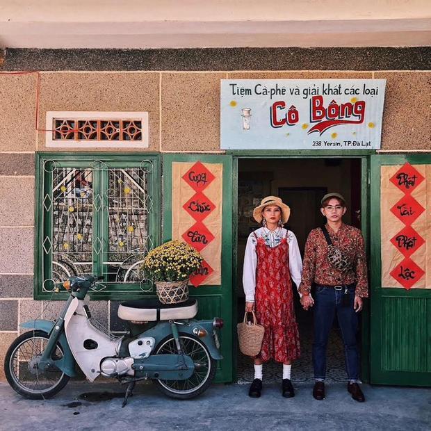 """3. Cà phê Cô Bông: Với concept """"ngày xửa ngày xưa"""", quán cà phê Cô Bông đã """"ghi điểm"""" cho những ai lần đầu tiên tới thăm. Ảnh: Instagram boađankhắp."""