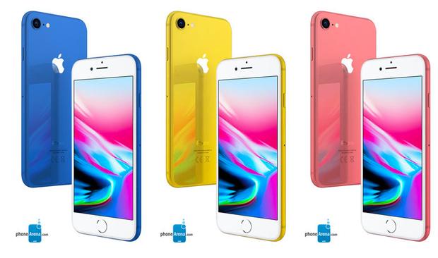 Ảnh dựng các phiên bản màu mới mới của iPhone 2018 do Phonearena thực hiện dựa trên tin đồn.