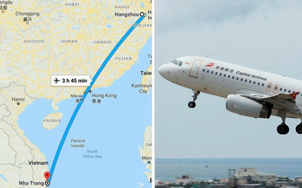 Hành trình chuyến bay trên website Flightradar24