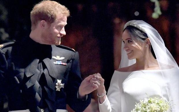 Khoảnh khắc ngọt ngào trong đám cưới cổ tích của Hoàng tử Harry và Meghan. Ảnh: Getty