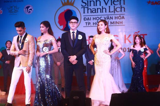 Hoa khôi Kiều Trinh và Nam vương Nhật Tân đẹp tựa hoàng tử và công chúa với trang phục dạ hội.
