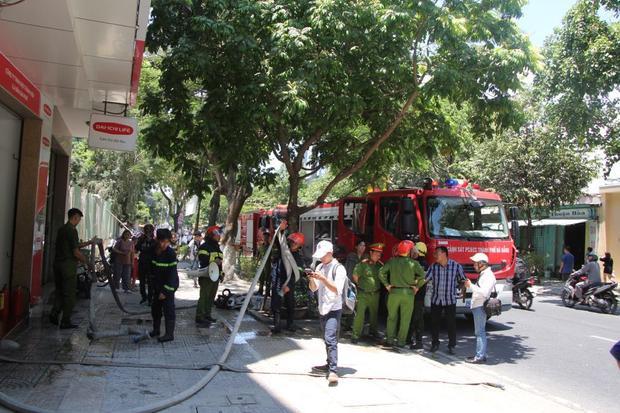 Hiện trường nơi xảy ra vụ cháy. Ảnh: H.H