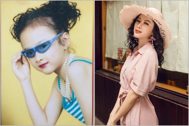 Angela Phương Trinh đã biết tạo dáng chuyên nghiệp từ khi còn nhỏ.