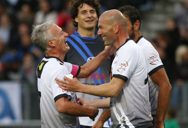 Didier Deschamps và Zidane.