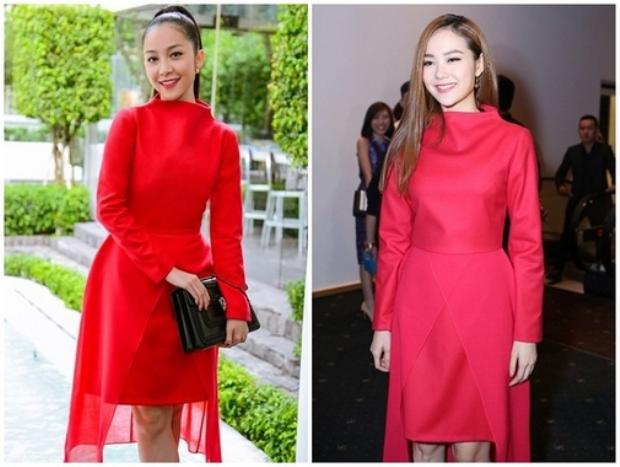 Không hiểu sao chiếc đầm đỏ được Linh Nga diện rất đẹp, nhưng mọi chuyện trở nên tồi tệ khi thiết kế này về tay của Minh Hằng.