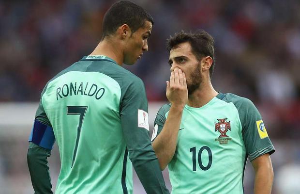 Bernardo silva được xem là người kế thừa Ronaldo ở đội tuyển Bồ Đào Nha.