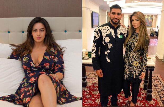 Amir Khan đã qua đêm với Sophia Hammani (trái) chỉ sau 17 ngày vợ sinh con.