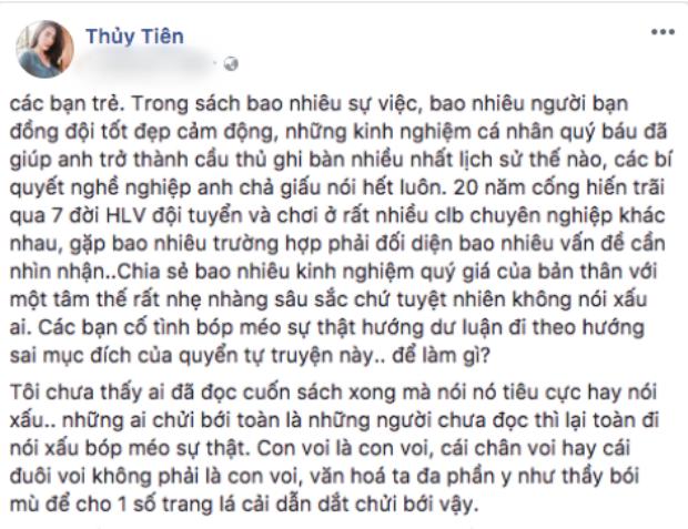 Bài đăng bênh vực ông xã của Thuỷ Tiên.