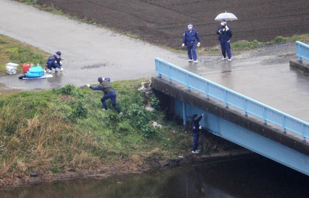 Khu vực phát hiện ra thi thể bé Nhật Linh.