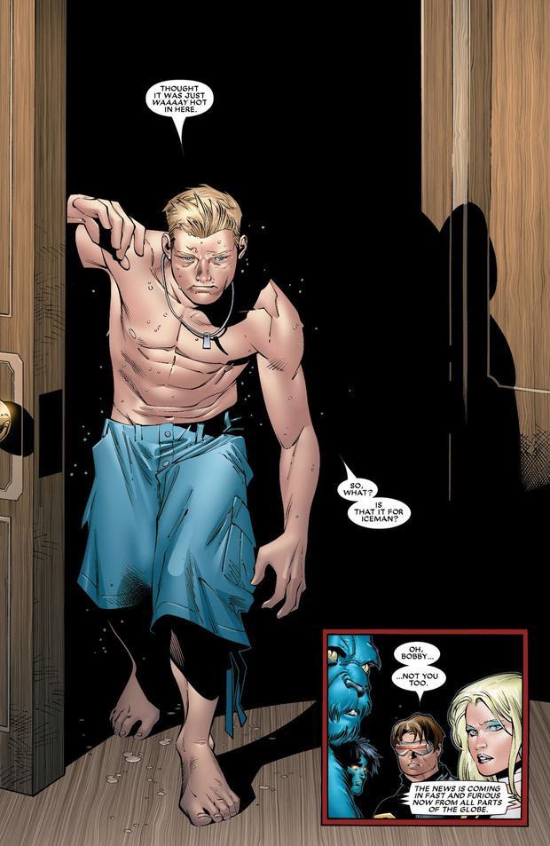 Iceman mất sức mạnh cũng do Scarlet Witch
