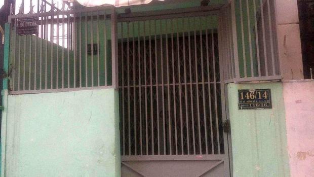 Ngôi nhà nơi xảy ra sự việc cô gái bị sát hại.