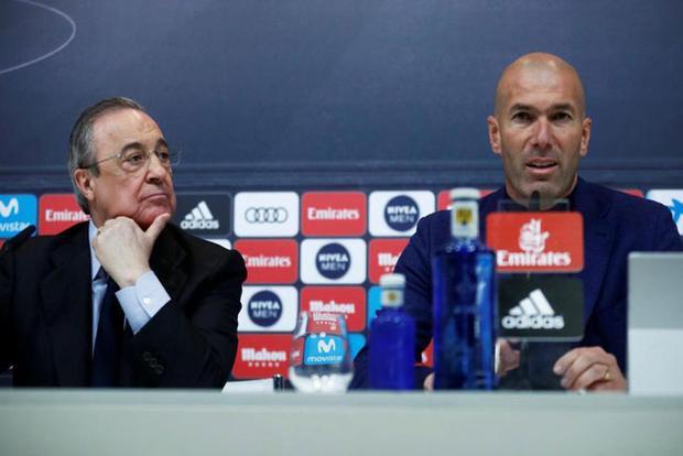 Zidane và Perez đã xảy ra tranh cãi lớn về kế hoạch chuyển nhượng của Real.