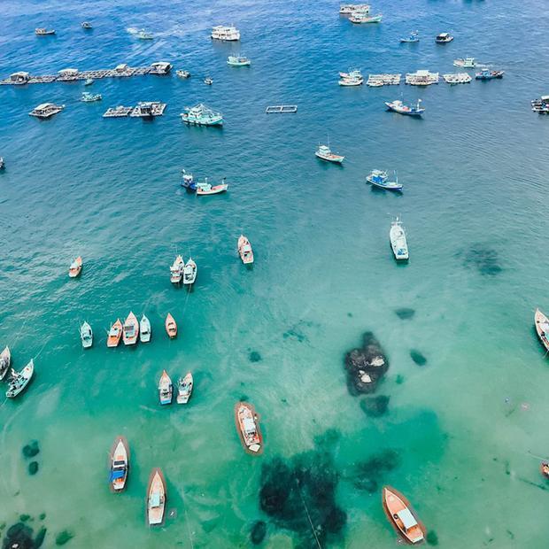 Bạn còn có thể lặn bình khí hoặc tham gia tour cano lặn ngắm san hô (2 triệu cho mỗi nhóm từ 1 đến 5 người). Theo Thắng, bạn nên tham gia hoạt động này, cano sẽ đưa du khách đi tham quan các Hòn Mây Rút Trong, Mây Rút Ngoài, Hòn Móng Tay đều rất thơ mộng. Bạn sẽ được thả mình giữa biển khơi bao la, ngắm cá, san hô hay câu cá. Kính và áo phao đều được miễn phí.