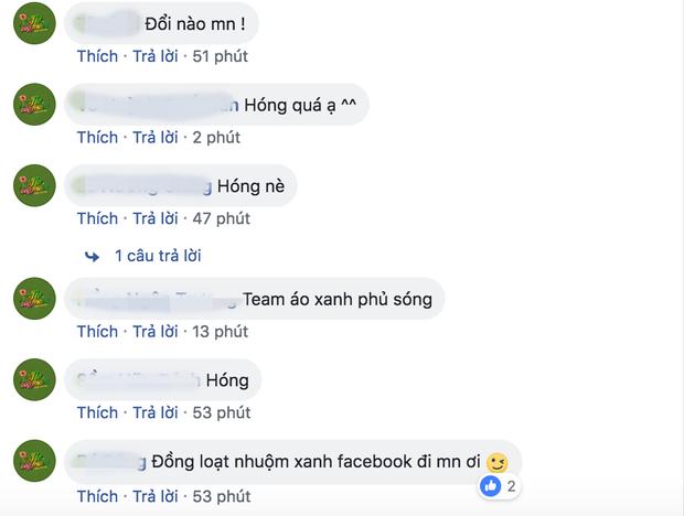 """Đông đảo fan Hoàng Yến cũng như những người yêu thích các cô gái của """"ngựa hoang"""" đồng loạt rủ nhau phủ xanh facebook để chào đón màn trở lại này."""