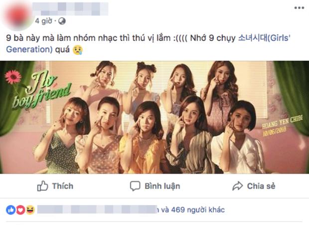 Ngoài việc hào hứng về dự án mới từ các cô gái, có fan còn nôn nao nhớ tới nhóm nhạc nữ Hàn Quốc đình đám SNSD khi thấy đội hình 9 người.