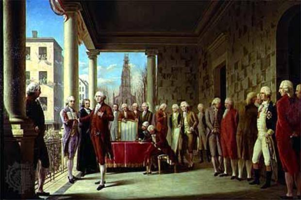 36. George Washington đã có bài phát biểu nhậm chức ngắn nhất, khi chỉ kéo dài 2 phút với 133 từ. Ảnh: Thư viện Quốc hội Mỹ