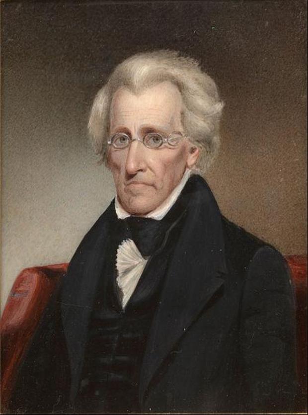 44. Andrew Jackson là Tổng thống đầu tiên bị đe dọa ám sát, bởi một thợ sơn nhà, ông Richard Lawrence khi không hài lòng với ngài Tổng thống. Vụ ám sát đã không thành công, ông Jackson còn đuổi theo Lawrence với cây gậy của mình. Ảnh: Tranh được trưng bày tại Phòng trưng bày tranh chân dung quốc gia