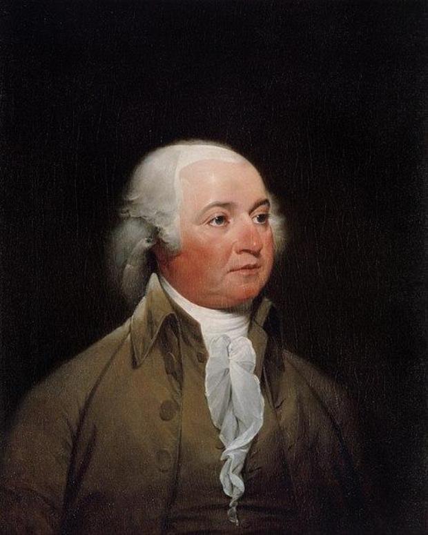 """45. Trước khi qua đời, ông John Adams đã nói những lời cuối : """"Thomas Jefferson vẫn còn sống"""", nhưng ông không hề biết rằng Jefferson đã qua đời trước đó vài giờ. Ảnh: Tranh trưng bày tại Phòng tranh chân dung Nhà Trắng"""