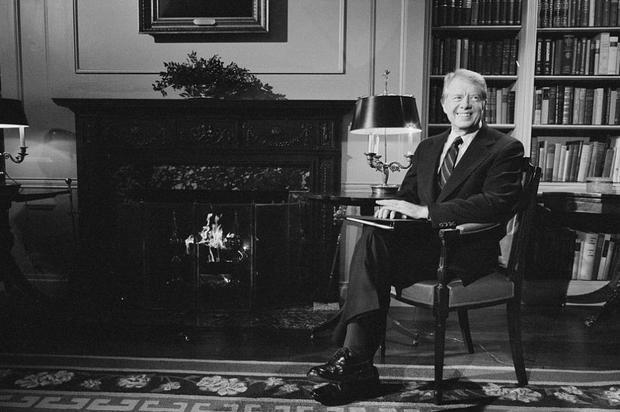 47. Jimmy Carter là người đầu tiên xuất thân từ Nam Mỹ được bầu làm Tổng thống. Ảnh: Thư viện Quốc hội Mỹ