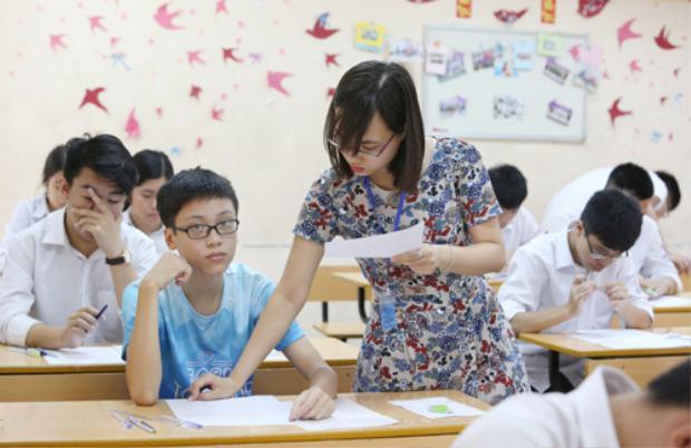 Thí sinh thi vào lớp 10 Hà Nội năm học 2017-2018. Ảnh: Ngọc Thành.