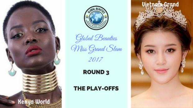 Trong top 32 đại diện Việt Nam là Huyền My (top 10 Miss Grand International - Hoa hậu Hòa bình Quốc tế 2017) chính thức đối đầu với mỹ nhân Magline Jeruto đại diện Kenya - top 5 Miss World - Hoa hậu thế giới 2017 để giành tấm vé vào top 16 chung cuộc.