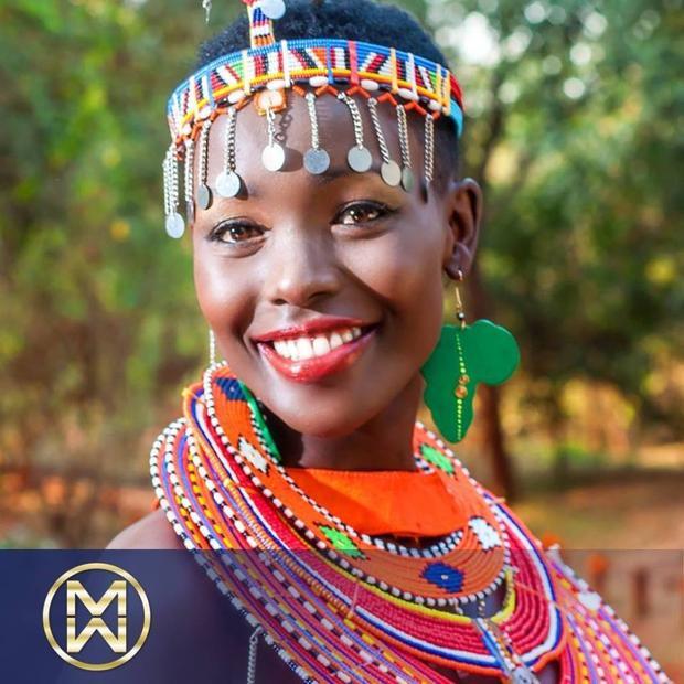 """Trong vòng """"đối đầu"""", đối thủ của Huyền My là một nhan sắc """"da màu"""" gốc Phi khá ấn tượng.Magline Jeruto từng đại diện Kenya tham dự Miss World 2017 và xuất sắc lọt vào top 5 chung cuộc."""