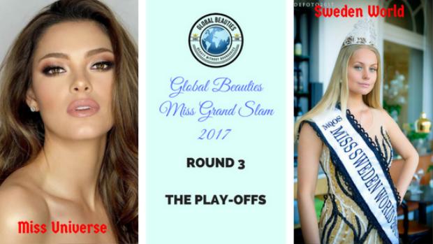 Ngoài ra chuyên trangGlobal Beauties cũng công bố 3 cặp đối đầu trong vòng 3 gồm có các đại diện: Đương kim Miss Universe - Hoa hậu Hoàn vũ 2017 đối đầu với người đẹp Sweden.
