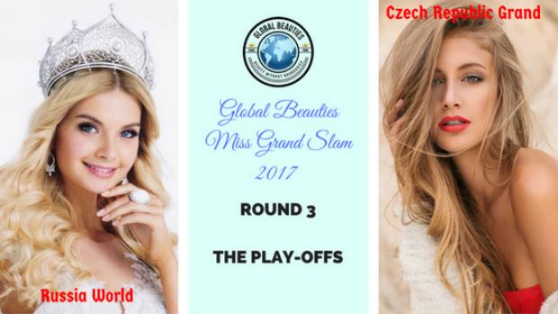 Hoa hậu Nga đối đầu với Á hậu 4Miss Grand International - Hoa hậu Hòa bình Quốc tế 2017 người Cộng hòa Séc.