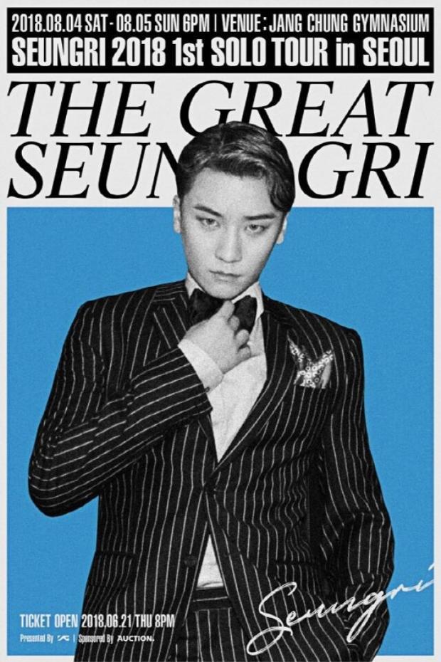 """Toàn bộ vé đặt trước cho solo concert của Seungri """"cháy hàng"""" chỉ sau 2 phút."""