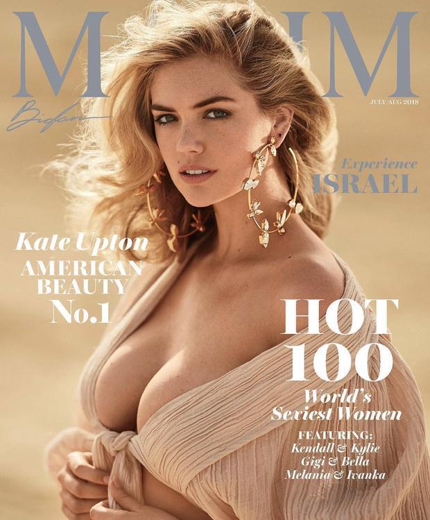 Siêu mẫu Kate Upton xuất hiện trên tạp chí Maxim với bộ ảnh quyến rũ.Bộ ảnh của người mẫu 26 tuổi được lấy từ khung cảnh ngập tràn cát trắng tại Israel.