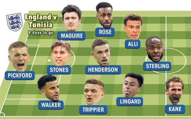 Đội tuyển Anh nhiều khả năng sẽ thi đấu với sơ đồ chiến thuật 3-5-2.