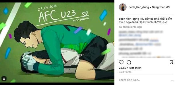 Được fan ghép đôi với Hà Đức Chinh, Bùi Tiến Dũng hớn hở khoe trên Instagram gia tộc Bùi  Hà ngày càng lớn mạnh