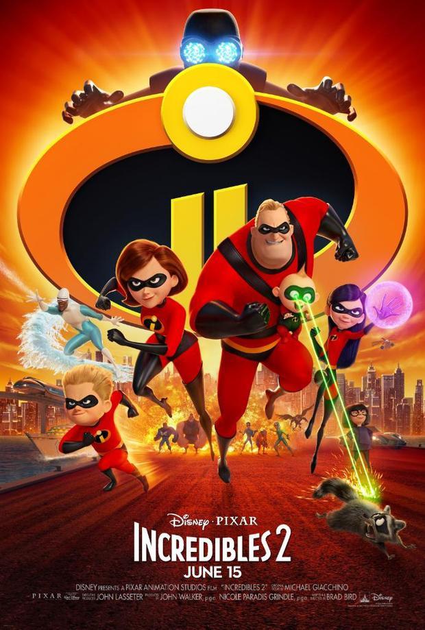 """Poster chính thức của """"The Incredibles 2""""."""