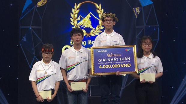 Thí sinh Trương Võ Thành Nhân xuất sắc giành vòng nguyệt quế.