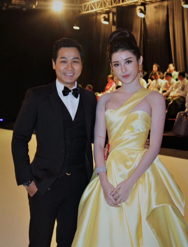 Không chỉ có H'Hen Niê, Á hậu Huyền My mới đây tại sự kiện ở đất nước Myanmar, cô cũng chọn một thiết kế sắc vàng lộng lẫy của Lê Thanh Hòa.